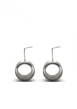 LONG AND CIRCULAR ONE EARRINGS