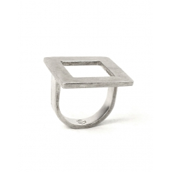 ANILLO SQUARE TWO PLATA
