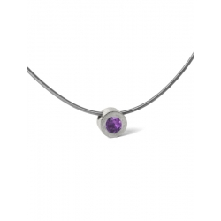 COLLAR DOT IN PURPLE