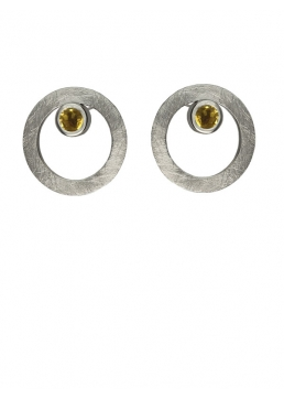 Pendientes CIRCULAR TWO in COLOURS yellow