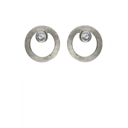 Pendientes CIRCULAR TWO in COLOURS white