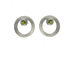 Pendientes CIRCULAR TWO in COLOURS green
