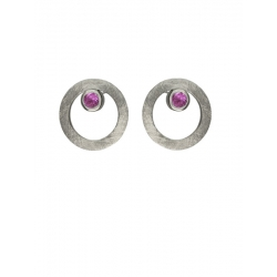 Pendientes CIRCULAR TWO in COLOURS pink