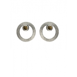 Pendientes CIRCULAR TWO in COLOURS brown
